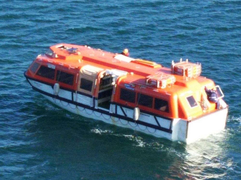 にっぽん丸-船から見たテンダーボート