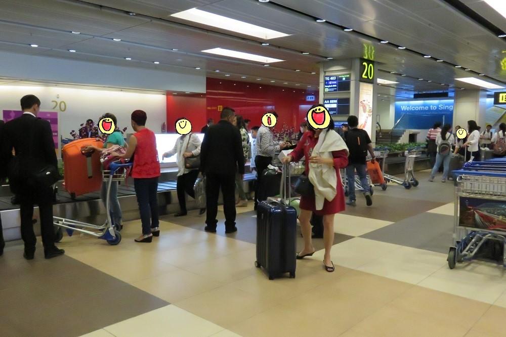 シンガポール2016 -手荷物をピックアップ
