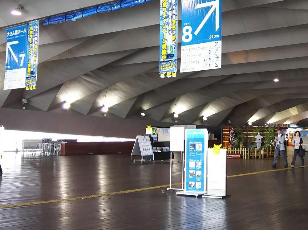 国際客船ターミナルの内部
