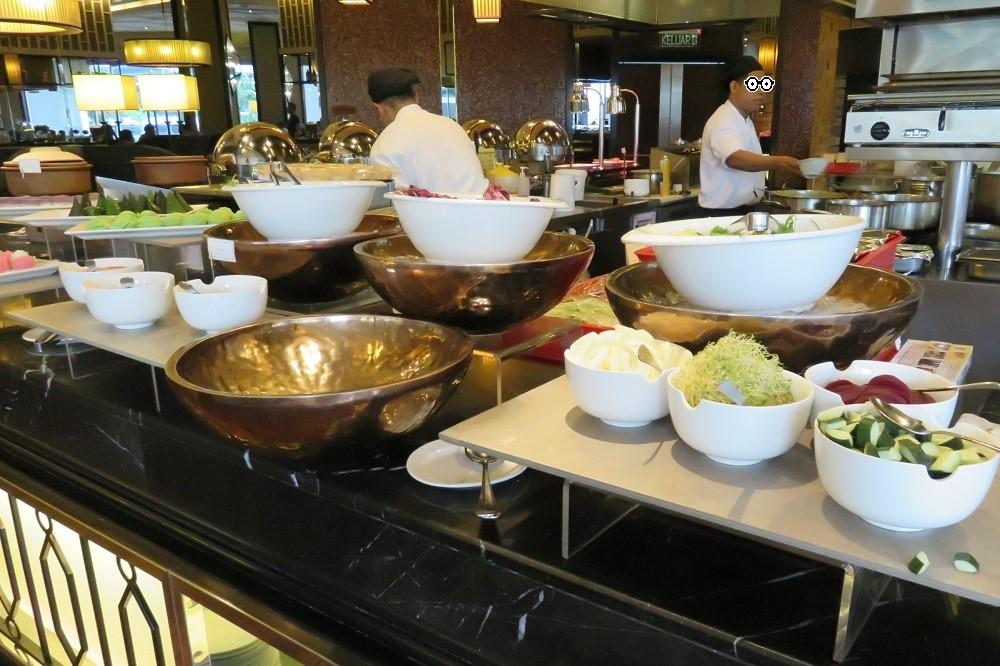 """シンガポール2016-""""CONTANGO""""朝食ブッフェのラインナップ-サラダ"""