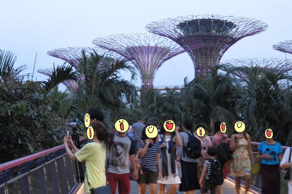 シンガポール2016-歩行者専用橋からの眺め2