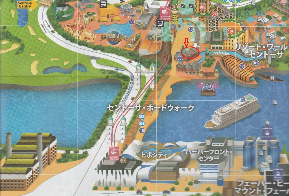 シンガポール2016-セントーサ島マップ1