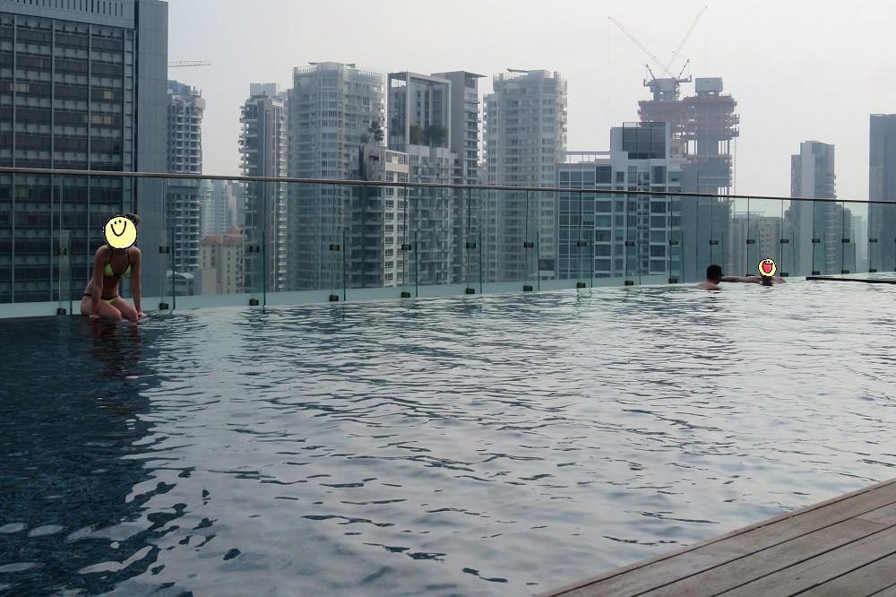 シンガポール2016-Hotel Jenプール12
