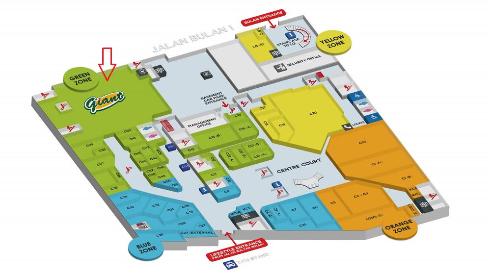 シンガポール2016-スンガイワンプラザフロアマップ