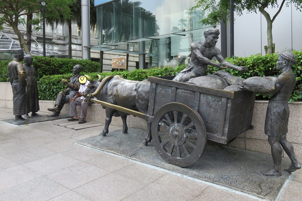 シンガポール2016-シンガポール川沿いの歩道オブジェ1