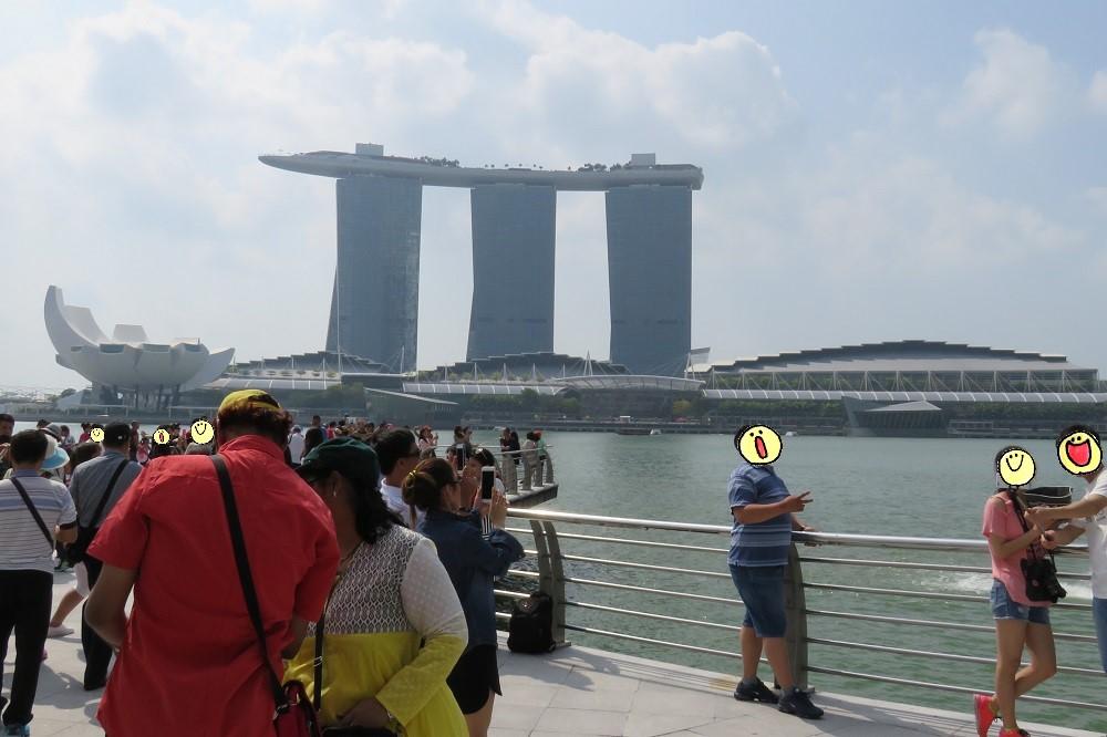 シンガポール2016-マーライオン広場からマリーナベイサンズ1