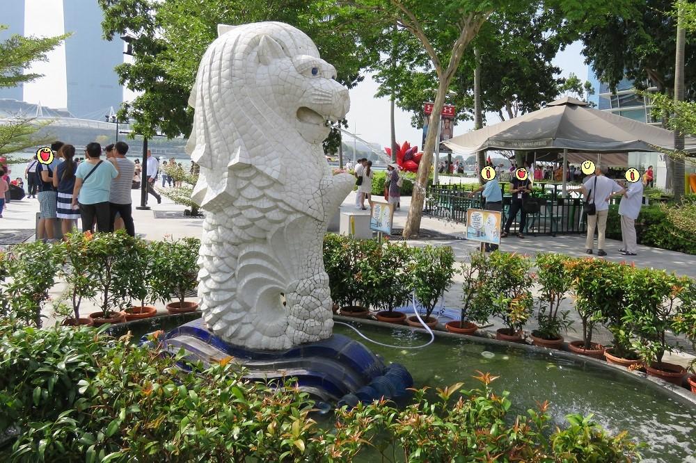 シンガポール2016-マーライオン子ライオン2