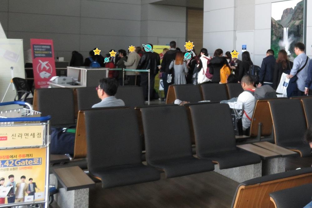 シンガポール2016-仁川空港搭乗風景