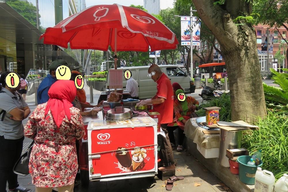 シンガポール2016-アイスクリーム屋台