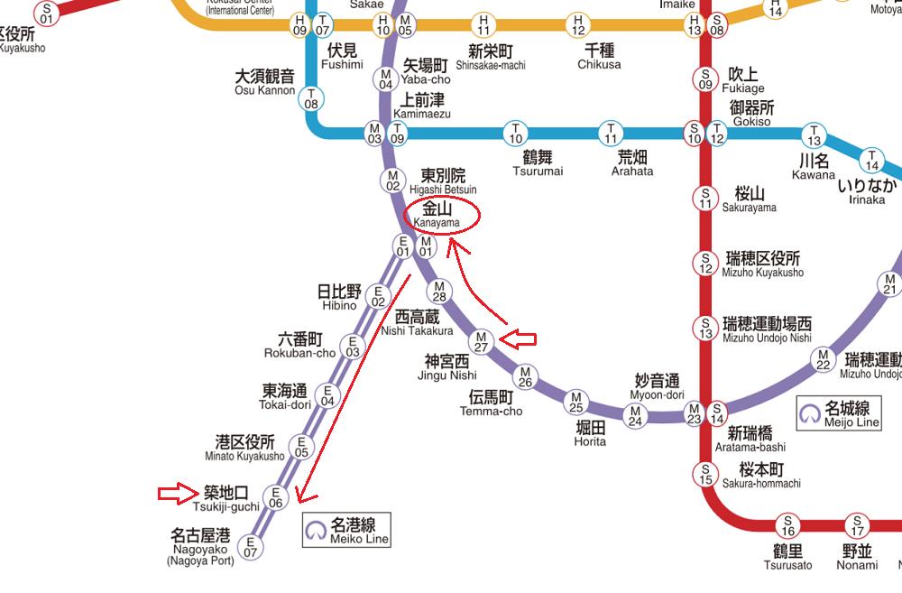 名古屋地下鉄路線図