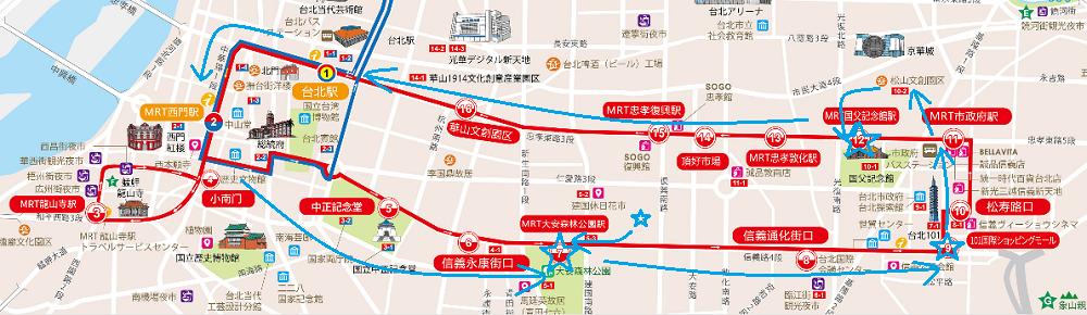 オープントップバス路線レッドライン