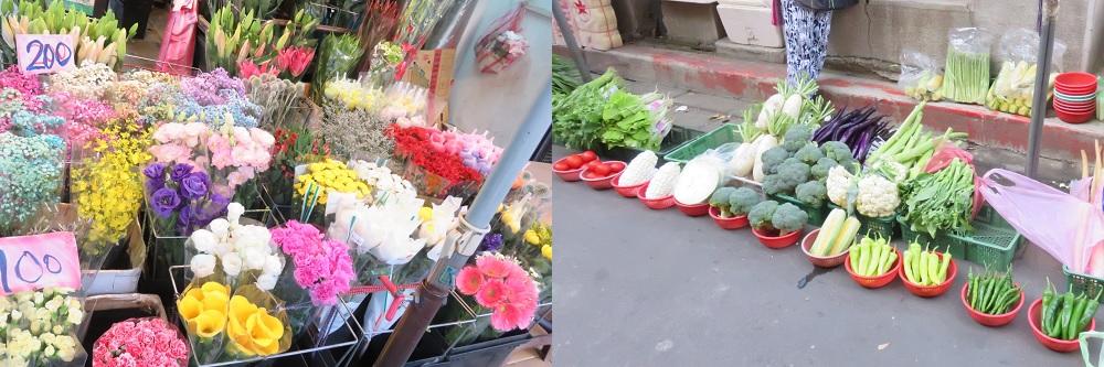 雙連朝市2花・野菜