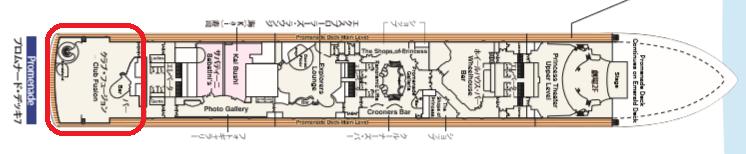 プロムナードデッキ・7Fマップ