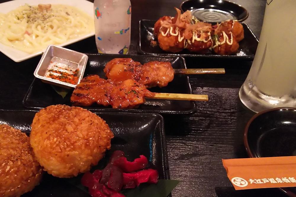 大江戸温泉物語で食事