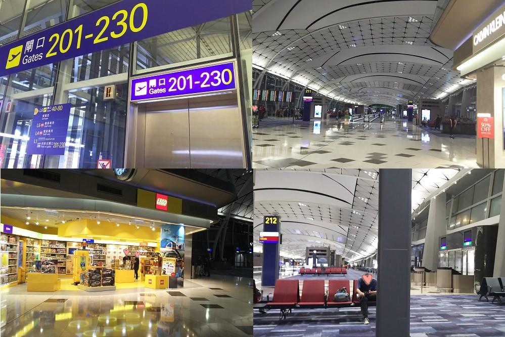 深夜の空港