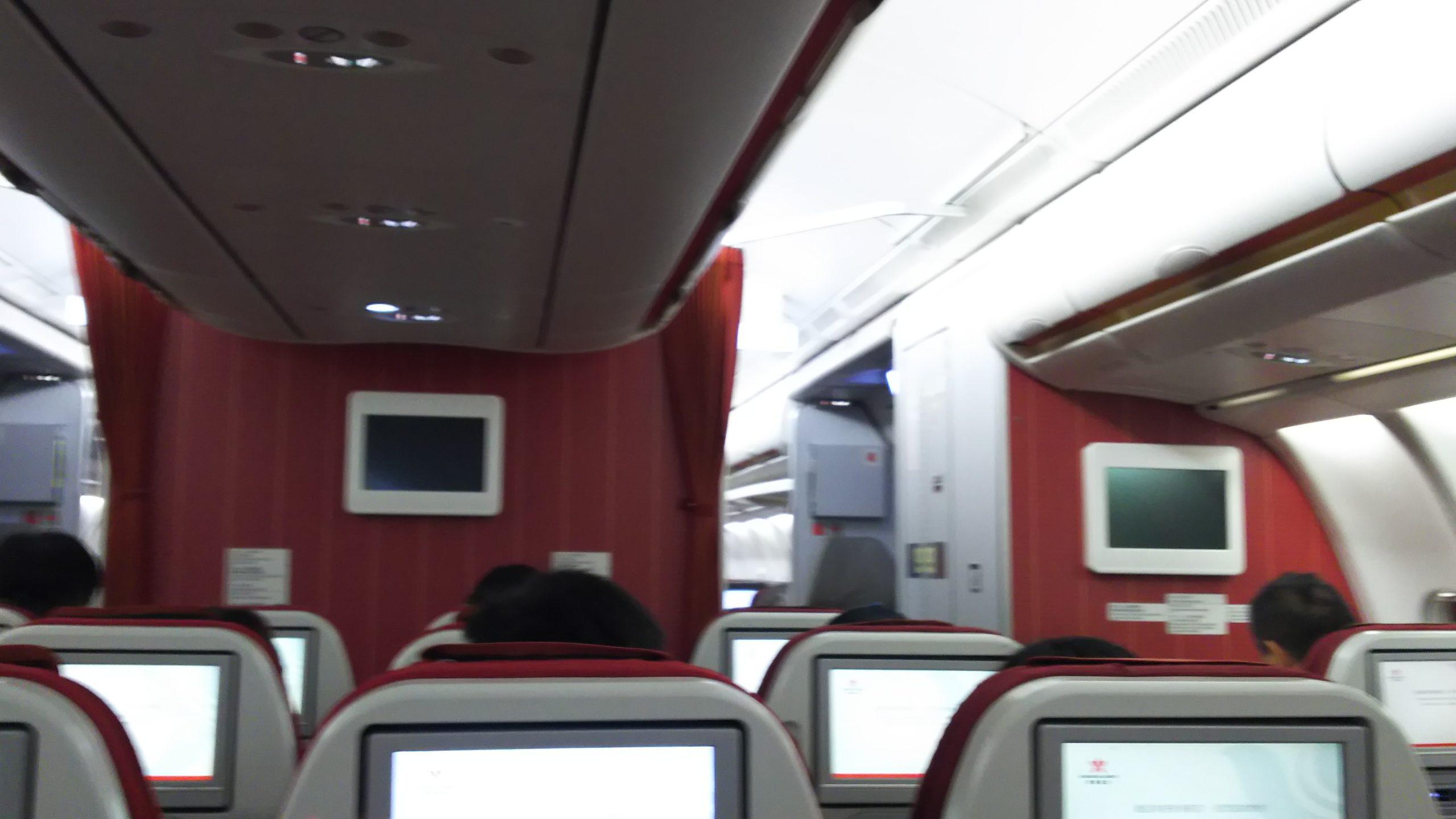 香港航空エコノミークラス