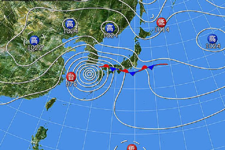 2019.09.22 15時天気図